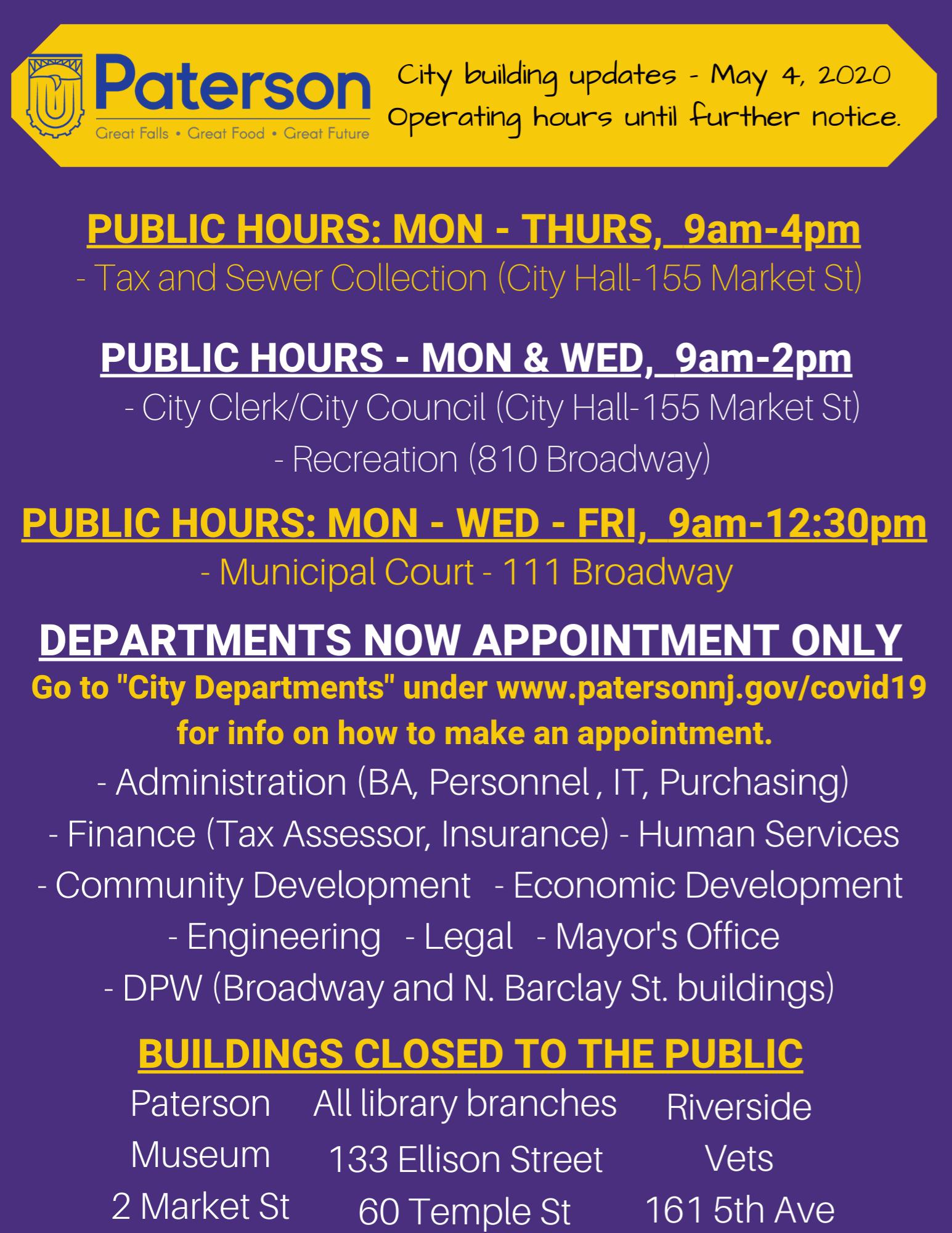 Building Hours updates