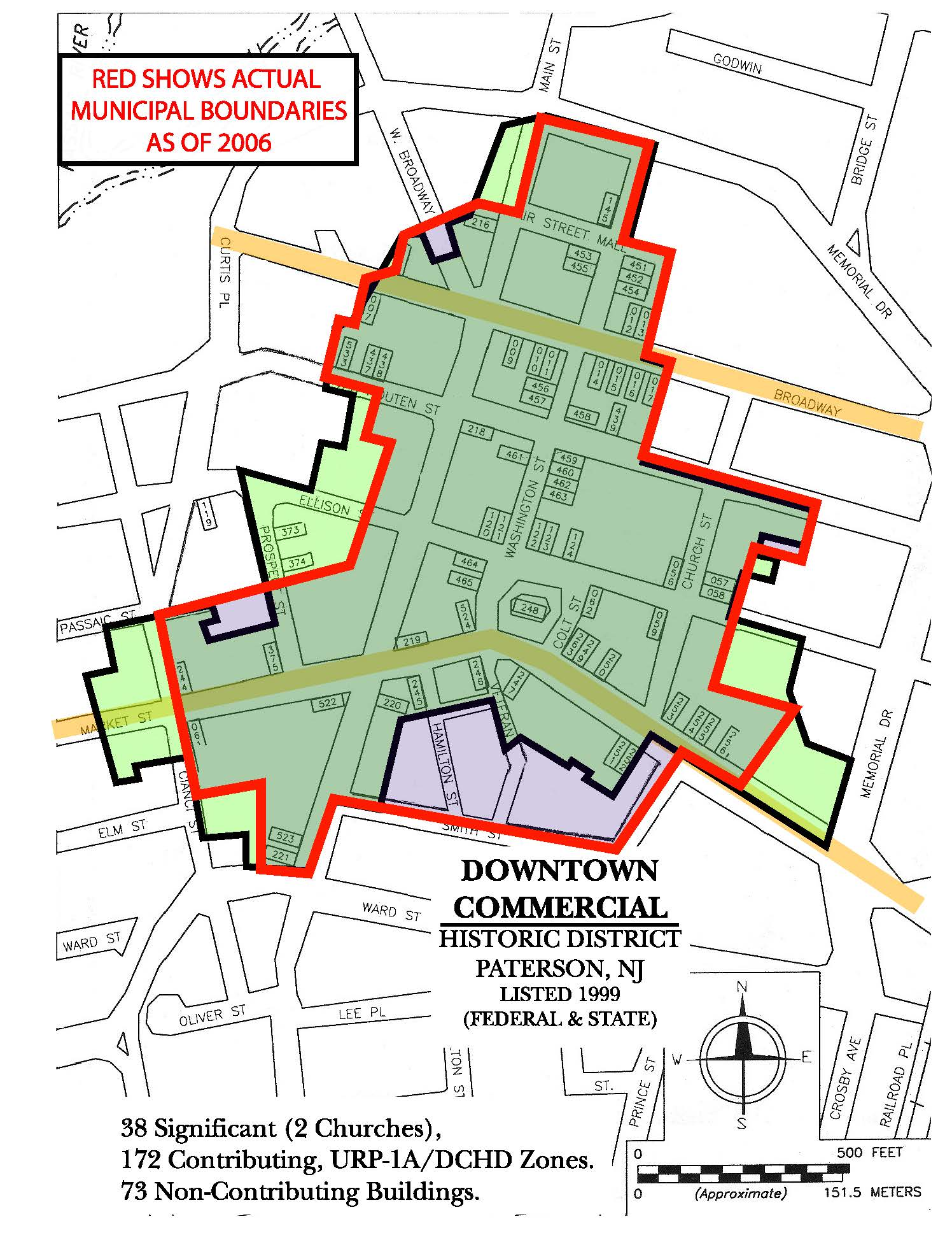 Map Downtown Commericial Historic District